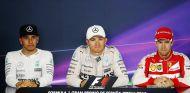Rosberg, Hamilton y Vettel en la rueda de prensa oficial de la FIA en Barcelona - LaF1.es