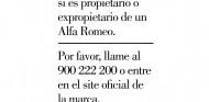 Reprodución del mensaje emitido por Alfa Romeo en diferentes medios - SoyMotor