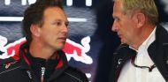 Christian Horner y Helmut Marko conversan en el box de Red Bull - LaF1