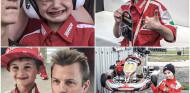 El niño que lloró el abandono de Räikkönen compite en karting... ¡con el número de Kimi! - SoyMotor.com