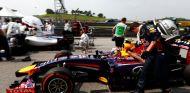 Daniel Ricciardo llega a la parrilla de salida del Gran Premio de Malasia - LaF1