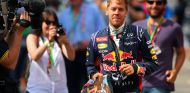Sebastian Vettel en el paddock de Montmeló - LaF1