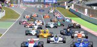 Salida de una de las carreras de la Fórmula 1 Histórica en el Espíritu de Montjuïc - LaF1