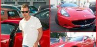 Imagen de La Gazzetta dello Sport de Vettel junto al California - LaF1