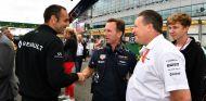 Abiteboul, Horner y Brown durante el GP de Gran Bretaña - SoyMotor.com