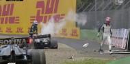 Choque y alta tensión: Russell y Bottas se encuentran en Imola - SoyMotor.com