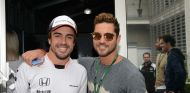 Fernando Alonso y David Bisbal en México - SoyMotor.com