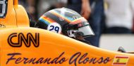 Alonso rinde homenaje a Nicky Hayden en su casco de Indianápolis - SoyMotor.com