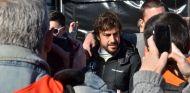 Fernando Alonso durante la mañana del 22 de febrero, el día del accidente - LaF1