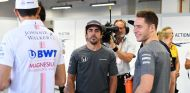 Esteban Ocon, Lance Stroll, Fernando Alonso y Stoffel Vandoorne en Marina Bay - SoyMotor.com