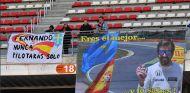 Aficionados de Fernando Alonso en Barcelona - SoyMotor.com