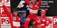 Rob Smedley, Felipe Massa y Michael Schumacher en Turquía - SoyMotor.com