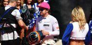 Fernando Alonso durante la presentación de pilotos en Austin - SoyMotor.com