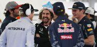 Alonso y Verstappen junto a varios pilotos esta temporada - SoyMotor