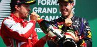 Fernando Alonso y Sebastian Vettel en el podio del Gilles Villeneuve - LaF1