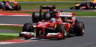 Fernando Alonso durante el GP de Gran Bretaña