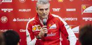 Arrivabene en la rueda de prensa que dio en Barcelona - LaF1