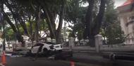 El Audi R8 V10 destrozado tras el suceso - SoyMotor.com