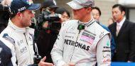 Rubens Barrichello y Michael Schumacher en una imagen de archivo - SOyMotor