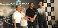 Pirelli, los directivos de Suzuka y Stéphane Rattel, en la presentación del evento - SoyMotor