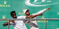 Usain Bolt y Lewis Hamilton en Austin - SoyMotor.com