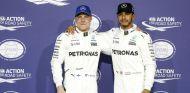 Bottas y Hamilton tras la clasificación en Abu Dabi - SoyMotor.com