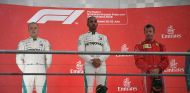 Valtteri Bottas, Lewis Hamilton y Kimi Räikkönen en Hockenheim - SoyMotor.com