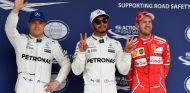 Bottas, Hamilton y Vettelt tras la clasificación en Suzuka - SoyMotor.com