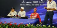Valtteri Bottas, Lewis Hamilton y Sebastian Vettel en Suzuka - SoyMotor.com