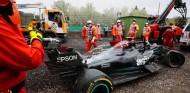 El coche de Bottas tras su choque con Russell - SoyMotor.com