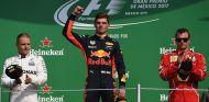 Valtteri Bottas, Max Verstappen y Kimi Räikkönen en México - SoyMotor.com
