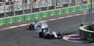 Bottas y Hamilton en el GP de Europa - SoyMotor