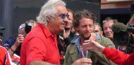 Briatore junto a Lapo Elkann durante un Gran Premio en 2010- LaF1