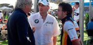 Flavio Briatore, Robert Kubica y Fernando Alonso en Australia - SoyMotor.com