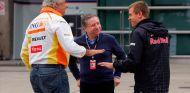 Flavio Briatore, Jean Todt y Sebastian Vettel en China - SoyMotor.com