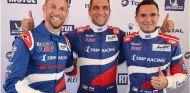 De izq. a der.: Jenson Button, Vitaly Petrov y Mihail Aleshin –SoyMotor.com