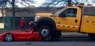 Un camión aplasta un Corvette en Atlanta - SoyMotor.com