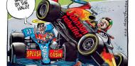 Un caricaturista critica la remodelación de Johnson con inspiración F1  - SoyMotor.com