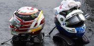 Los cascos de Hamilton y Bottas –SoyMotor.com