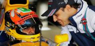 Karun Chandhok en el FW14B, con Felipe Massa - SoyMotor