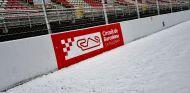 El Circuit de Barcelona-Catalunya, nevado en la primera semana de test 2018 - SoyMotor.com