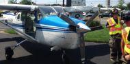La avioneta después del percance - SoyMotor