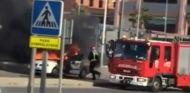 Escapa de un coche en llamas difícil de frenar - SoyMotor.com