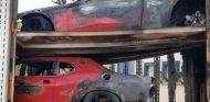 Tres Dodge Challenger Demon, pasto de las llamas en Michigan - SoyMotor.com