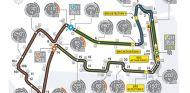 Circuito de Marina Bay con las zonas de DRS para 2013 - LaF1