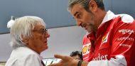 Bernie Ecclestone y Maurizio Arrivabene en Interlagos - SoyMotor.com