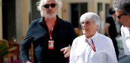Flavio Briatore y Bernie Ecclestone en Abu Dabi 2016 - SoyMotor