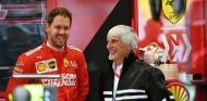 Sebastian Vettel y Bernie Ecclestone en una imagen de archivo - SoyMotor.com