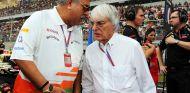 Bernie Ecclestone junto a Vijay Mallya - LaF1