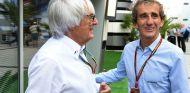 Ecclestone y Prost durante un Gran Premio en 2014 - SoyMotor